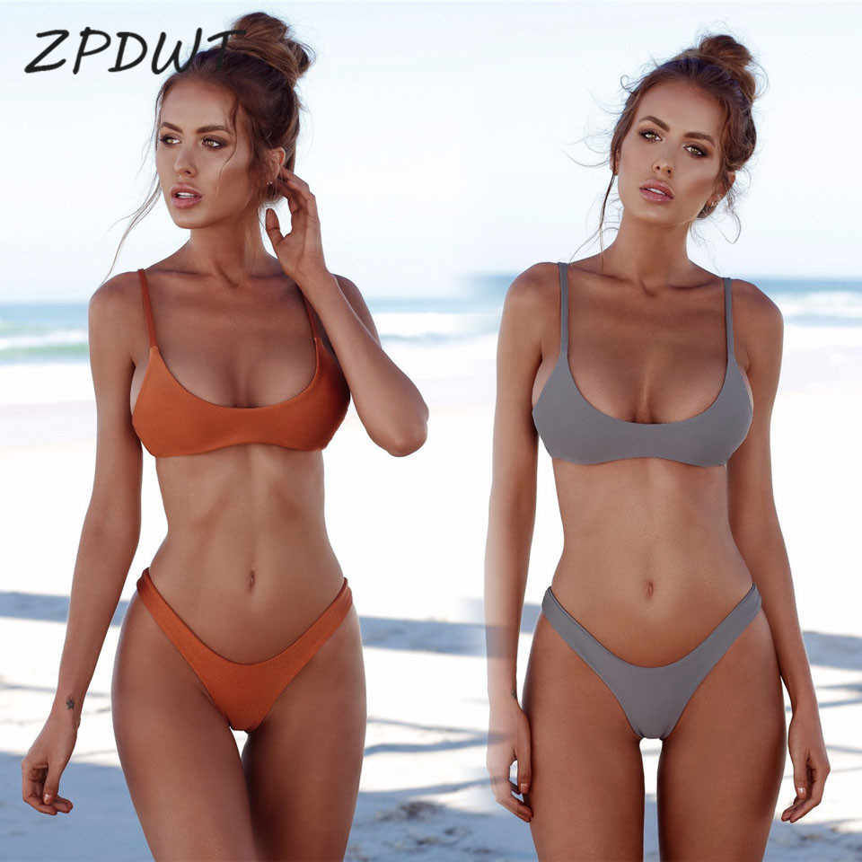8237919efea65 Thong Bikinis Women Brazilian Triangle Bikini Bandeau Swimsuit Beachwear  Mini Bikini Neon Green Swimwear Padded Micro