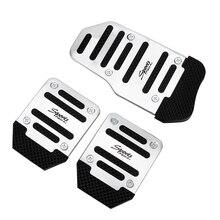 LEEPEE, автомобильная ножная накладка, накладка из алюминиевого сплава, 3 шт., автомобильная Нескользящая педаль, автомобильная педаль, набор, ручная коробка передач