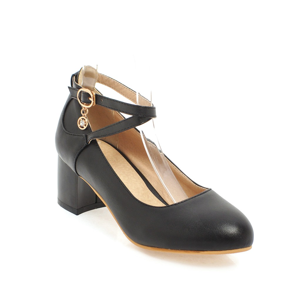 LDHZXC 2018 new big size 13 14 44 45 Shoes Women Flock Square Med Heel  Platform Women Pumps Fashion Ladies Wedding Woman Shoes-in Women s Pumps  from Shoes ... 024fabccb412