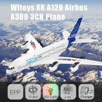 Wltoys XK A120 Airbus A380 Model Remote Control Plane 2.4G 3CH EPP RC Airplane Fixed Wing RTF RC Toy With Led Light