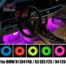Автомобиль Для Укладки 9 М EL Провода/Для BMW X1 E84 F48/X3 E83 F25/X4 F26/Автомобиль Романтическая Атмосфера Лампы/Гибкий Неон Холодный Свет