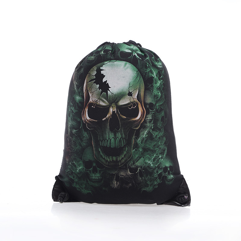 Skull Skeleton Gym Bags New Swimming And Sports Drawstring European Men Women Beach Backpack Shoes Bag In From