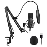 JABS Usb Microphone Kit Usb Computer Cardioid Mic Podcast Condenser Microphone with Professional Sound Chipset for Pc Karaoke,