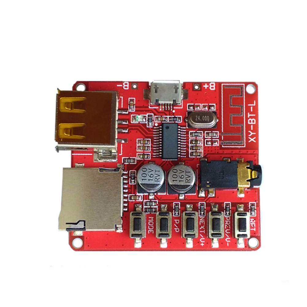 Wireless Bluetooth For Audio Receiver Board TF Card USB Decording Stereo Music Transmitter