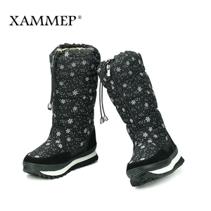 Image 2 - Womens Winter Shoes Knee High Boots Plus Big Size High Quality Brand Women Shoes Plush And Wool Women Winter Boots