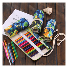 36/48/72 Holes Office Pouch Etui Stylo Large Capacity Scolaire Rulo Kalemlik School Pencil Case Pouches Pen Bags Trousse