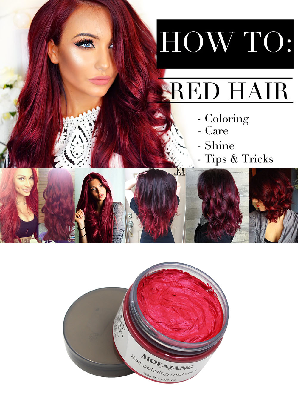 Red hair wax 13
