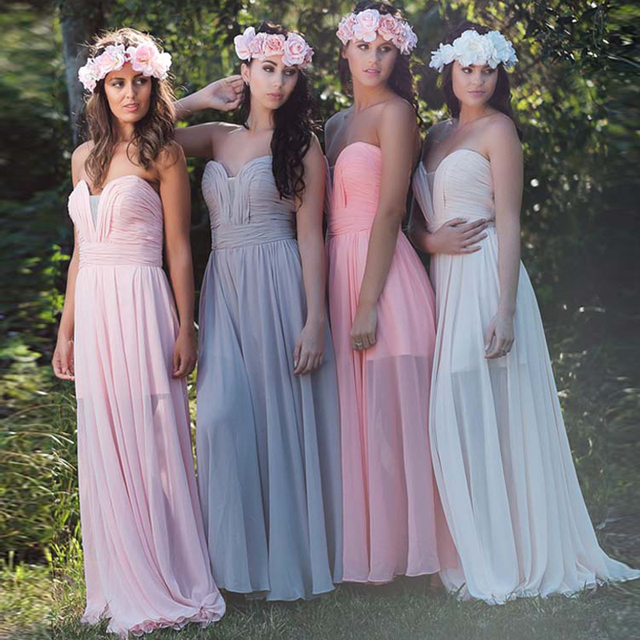 Vintage Mint Colorful Bridesmaid Dress Two Side Slit Wedding Party Gowns  Long Dress Sleeveless Sweetheart Formal Dress RWB25 e3542fa83522