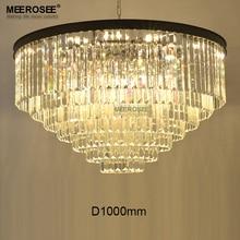 Modern K9 Crystal Chandelier Light HotSale Clear Cristal Hanging Lamp Black Color Drop Lustre illumination for Living room Hotel