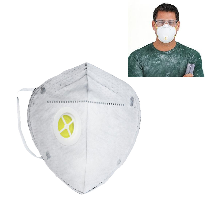 2Pc Activated Carbon Collapsible Dust Mask Charcoal Particulate Filter Respirator Breathable Face Mask Workplace Safety Supplies 10 pcs a lot 3803 dust mask cotton filter for anti dust mask workplace safety supplies new arrival excellent quality