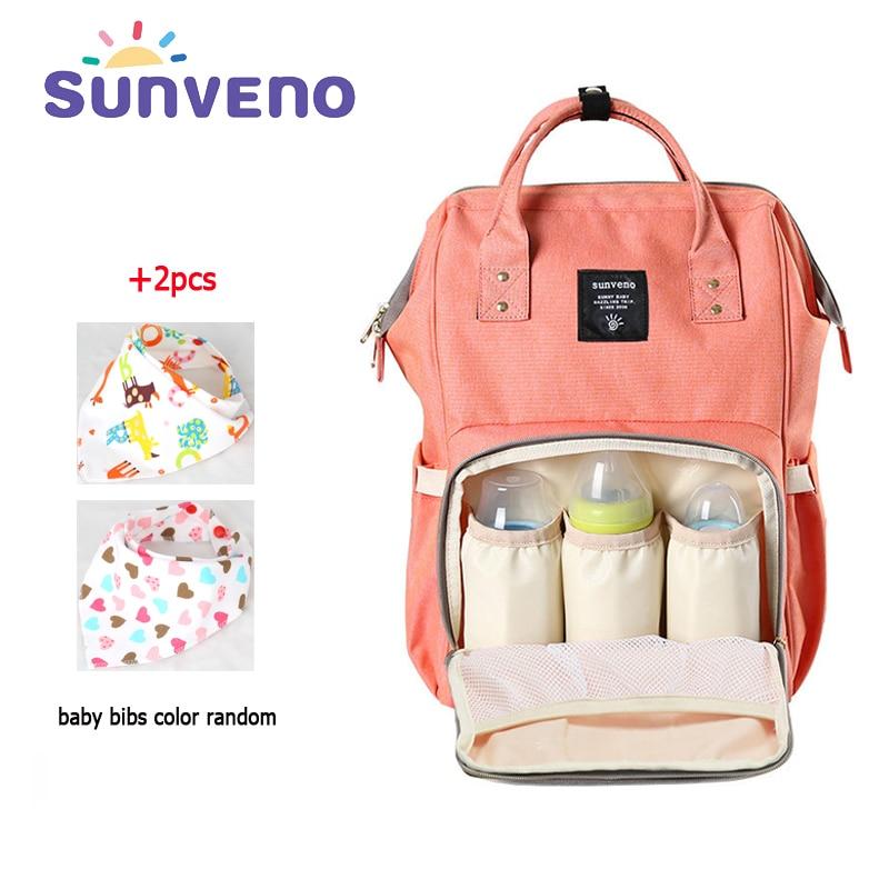 SUNVENO 2017 Fashion Mummy Maternity Diaper Bag Mom Backpack Brand Large Capacity Baby Bag Desinger Nursing