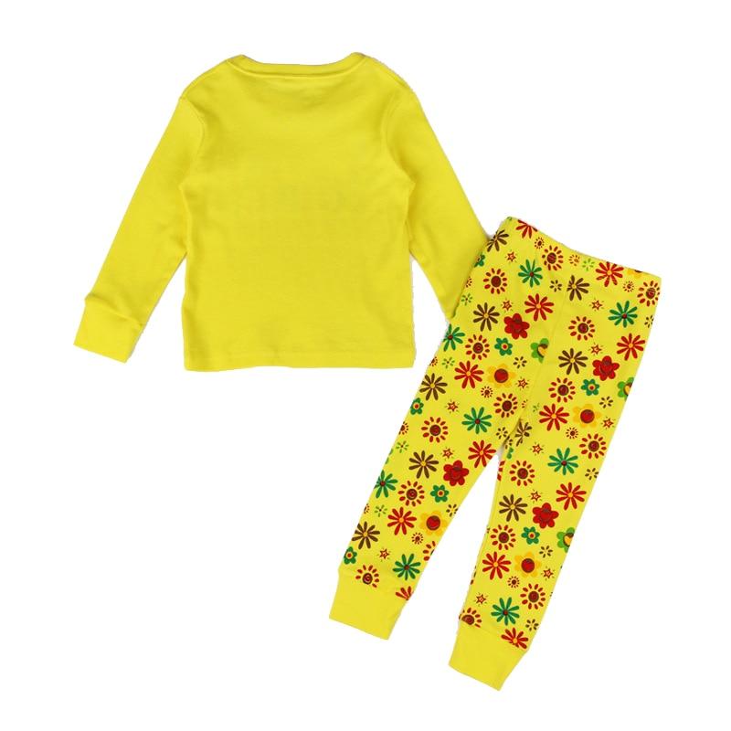 f101b91e654c New Fashion Toddler Pajamas Letter Yellow Clothes + Print Pants Vaenait  Baby Kids Girls Clothes Sleepwear Pajama Set 2T-7T 10167