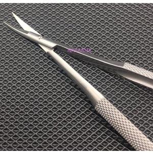 12 см, изогнутые головки, Микро ножницы для роговицы, ручные инструменты, хирургические, из нержавеющей стали, офтальмологические инструменты, высокое качество