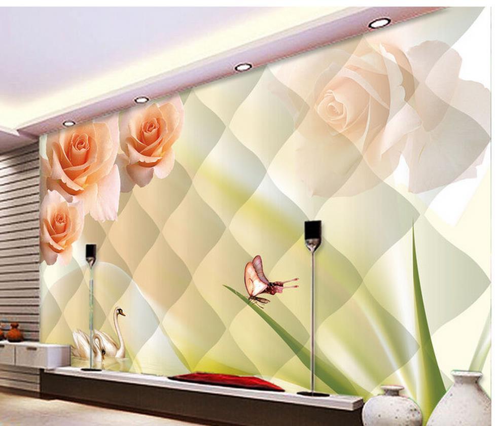 Kustom Foto Wallpaper Latar Belakang Tv Lukisan Dinding Wallpaper