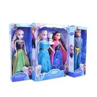2 pcs Disney 29 Cm Nouvelle Neige et Glace Princesse Elsa Anna sans Olaf Frozen Princesse Poupée Jouet pour Fille Chritsmas Cadeau D'anniversaire ensemble