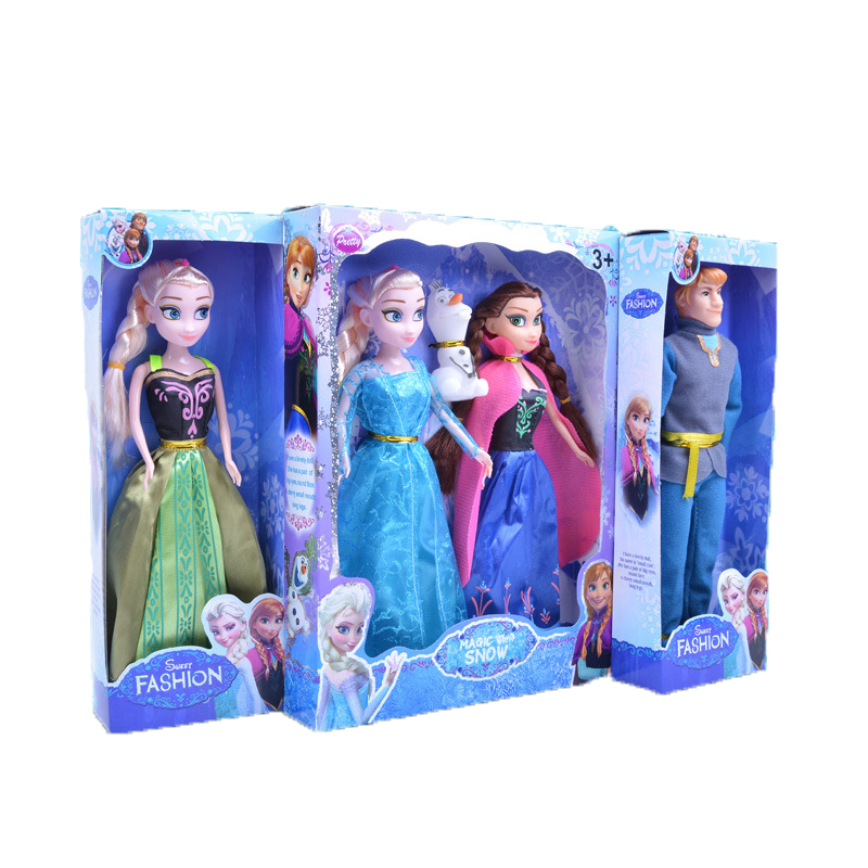 2pcs Disney 29 Cm New Snow and Ice Princess Elsa Anna without Olaf Frozen Princess Doll Toy for Girl Chritsmas Birthday Gift Set
