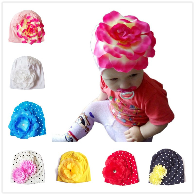 Bnaturalwell Neonato Cappello in cotone Beanie Toddler Girls Lovely Flower Accessori Boutique Caps Kids Floral Spring Hat H361