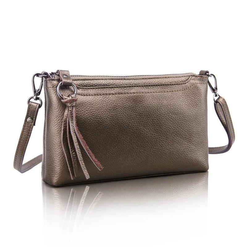 98cd8cdeafd Brand New 2016 100% Couro Genuíno Das Mulheres Carteira Pequena Bolsa de  Couro Bolsa de Ombro Messenger Bag Crossbody Purse Preço em Dólar