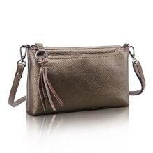 Brand New 2016 100% Genuine Leather Women Shoulder Bag Messenger Bag Crossbody Purse Leather Wallet Small Bag Dollar Price