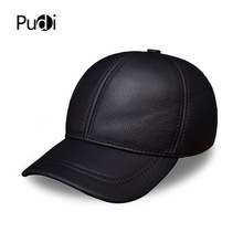 HL130 Mens genuine leather baseball cap hat brand new style spring warm golf caps hats
