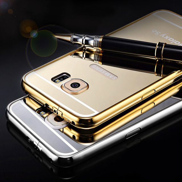 new style 0e41f 8408f US $13.98 |Aliexpress.com : Buy Mirror Case For Samsung Galaxy S6 G9200 /  S6 Edge Aluminum + Acrylic Protective Back Cover For Samsung Galaxy S6 Edge  ...