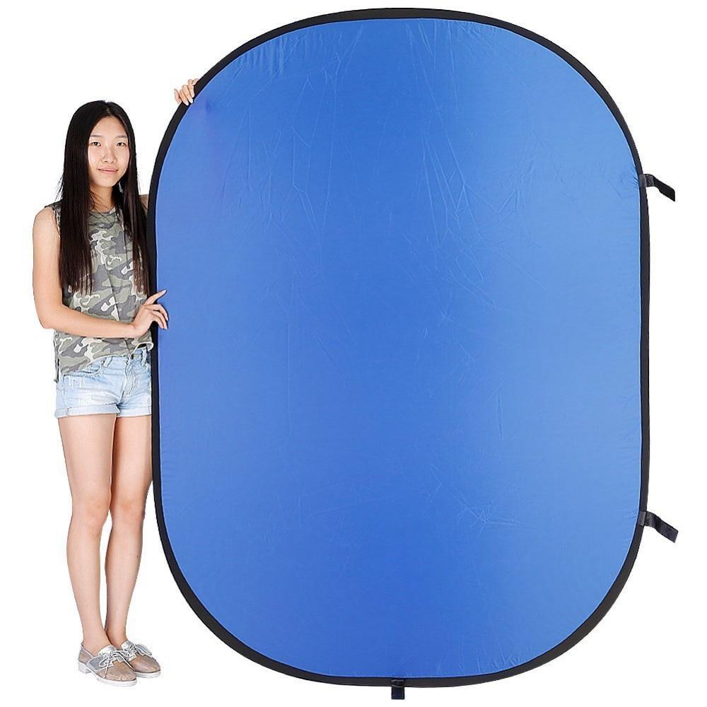Neewer 1.5x2 M 2 en 1 Photo Pliable Réversible Chromakey Fond Panneau De Toile De Fond/Vert Bleu Lumière Réflecteur pour Studio - 3