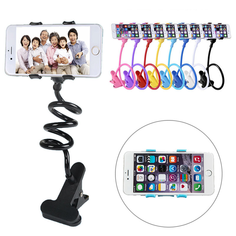 HOT 360 Rotating Flexible lazy bed desktop tablet car Long Arm holder stand selfie mount bracket for iphone 6,For samsung S5 S6