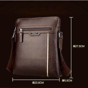 Image 4 - Man Leather Bag VORMOR Brand Shoulder Crossbody Bags PU Leather Male iPad Business Messenger Bag Briefcase For Men