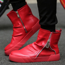 Lujo Marca Ankle Boots Martin Para Hombres Zapatos Hechos A Mano Botines Superestrella Botas Clásico de Invierno Al Aire Libre de Alta Superior Zapatos