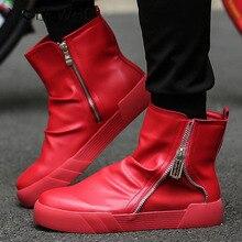 Волк, который мужские полусапоги Ботинки Челси зимние высокие Обувь Для мужчин; кожаные Повседневное Обувь Sapato masculino
