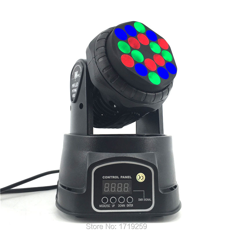 Fast Shipping LED Beam Moving Head 18x3W RGB Stage Lighting For Event,Disco Party Night club SHEHDS DMX512 Stage Lighting fast shipping professional stage lighting led mini 18x3w wash moving head light for event disco party nightclub