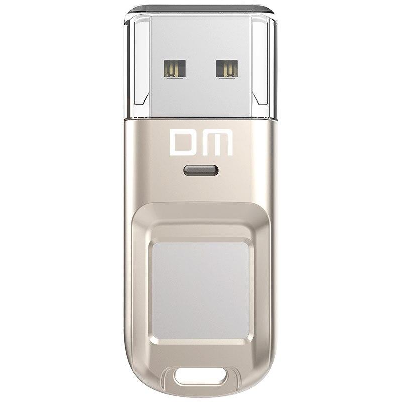 DM Usb-Flash-Drive Memory-Disk Encrypted Fingerprint Security 64GB 32GB Stick Pen