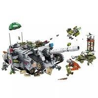 Германия Военная мировая война 2 Jagdpanther тяжелый танк автомобиля строительные кубики, детские игрушки Совместимые legoing серии армии