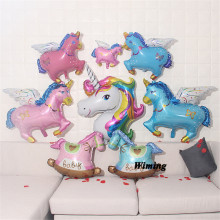 foil helium balloon unicorn children birthday decorations party supplies animal shaped horse decoration toy