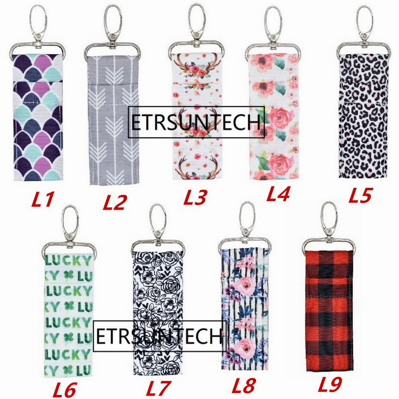 Portable Lipstick Holder Keychain Lip Balm Pouch Key Ring Bags Storage Bags Case