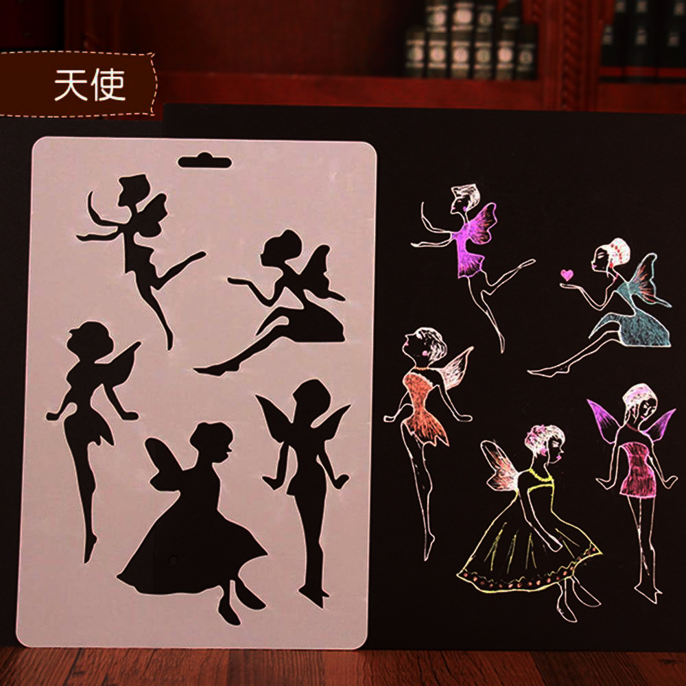 Pop Kids Drawing Painting Templates Educational Toys DIY Animal Flower Scrapbooking Stencils Stationery School Supplies Kid Gift