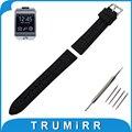 22mm caucho de silicona watch band + herramientas para samsung gear 2 r380 neo r381 vivo r382 reemplazo correa de pulsera pulsera de la correa negro