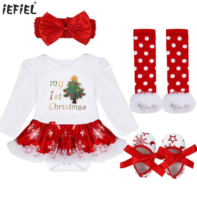 newborn baby jumpsuit my first christmas costumes infant toddler baby girls christmas tree deer stocking santa - Girl Christmas Stocking
