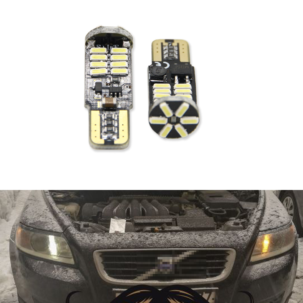 Canbus T10 W5W SMD 4014 22LED Car Wedge Clearance <font><b>Lights</b></font> Parking <font><b>Light</b></font> For <font><b>Volvo</b></font> S60L S80L XC90 C70 V40 V50 V60 XC60 <font><b>S40</b></font> S60 S80 image