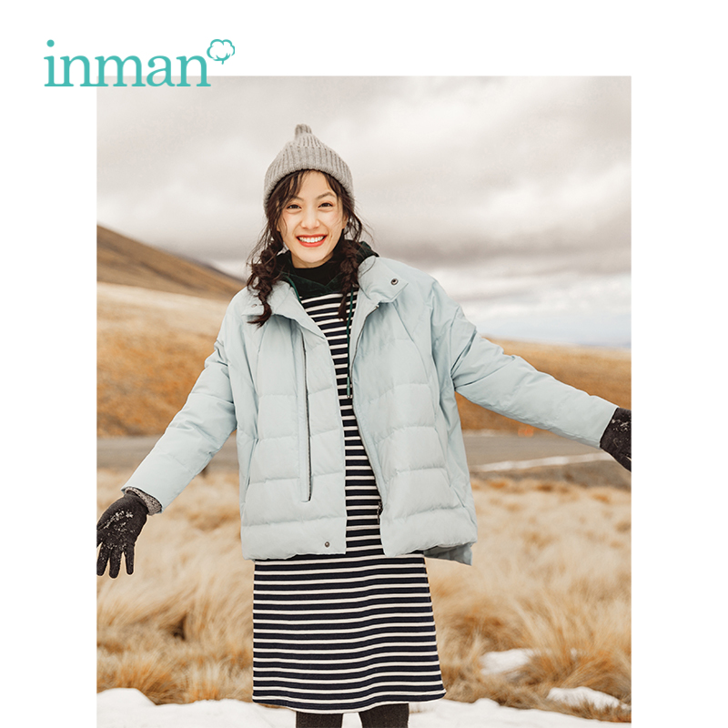 INMAN Winter New Arrival Female Lapel Warm Windproof Light Short Section   Down     Coat