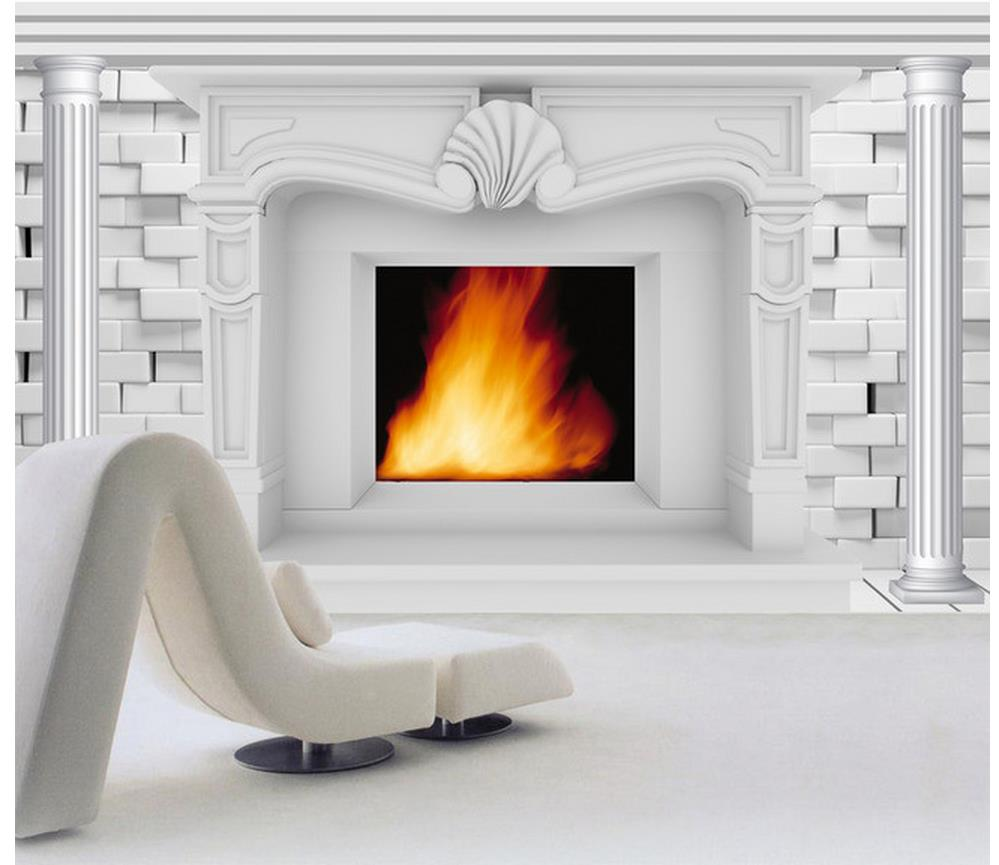 Super Custom 3D Wallpaper European Style 3D Fireplace Background Download Free Architecture Designs Lukepmadebymaigaardcom