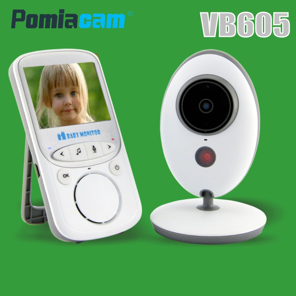 VB605 2.4 inch Portable Wireless Video Baby Monitor Color Intercom Baby Camera Night Vision Nanny Bebe Walkie Talkie Babysitter 2pcs mini walkie talkie uhf interphone transceiver for kids use two way portable radio handled intercom free shipping