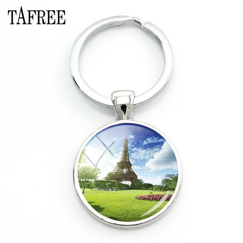 TAFREE Эйфелева башня вид брелок famou Парижские пейзажи брелок друзья подарок сумка ключи аксессуары, модные украшения FA392