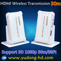 Free shipping DHL wireless wifi hdmi 30m hdmi wireless transmitter and receiver 1080p 1.4V