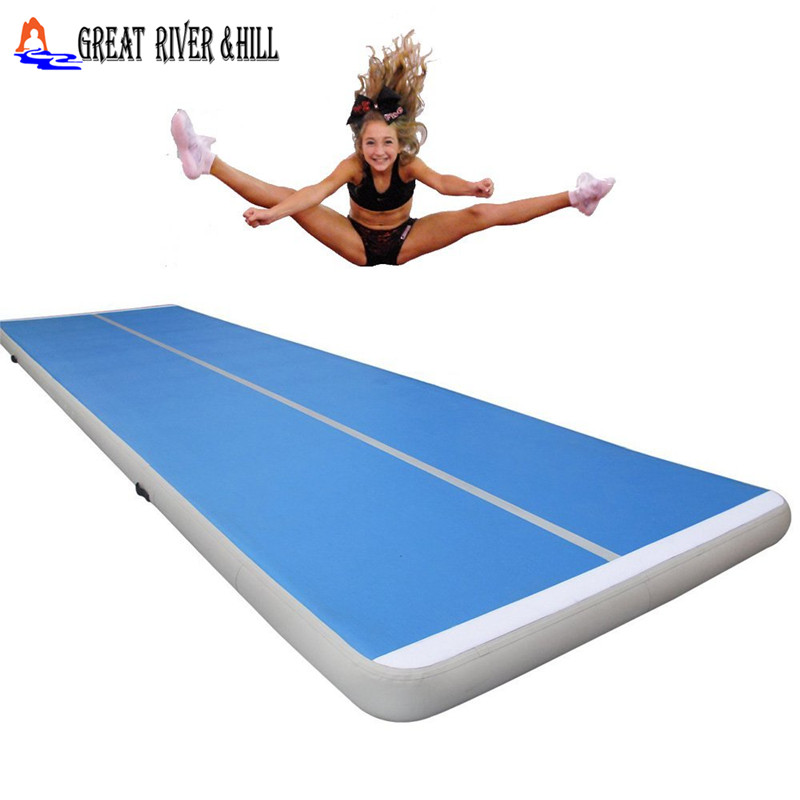 10mx2mx0.2m hot sale great river hill inflatable training mat for gymnastics ,shool ,club ,home hot sale