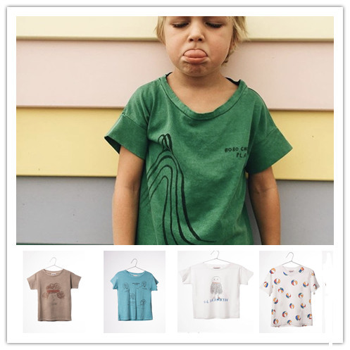2017 Bobo choses spring summer KIDS T SHIRTS SPORT CLOTHING BABY BOY CLOTHES BABY GIRL CLOTHES KIDS CLOTHING VESTIDOS VETEMENT