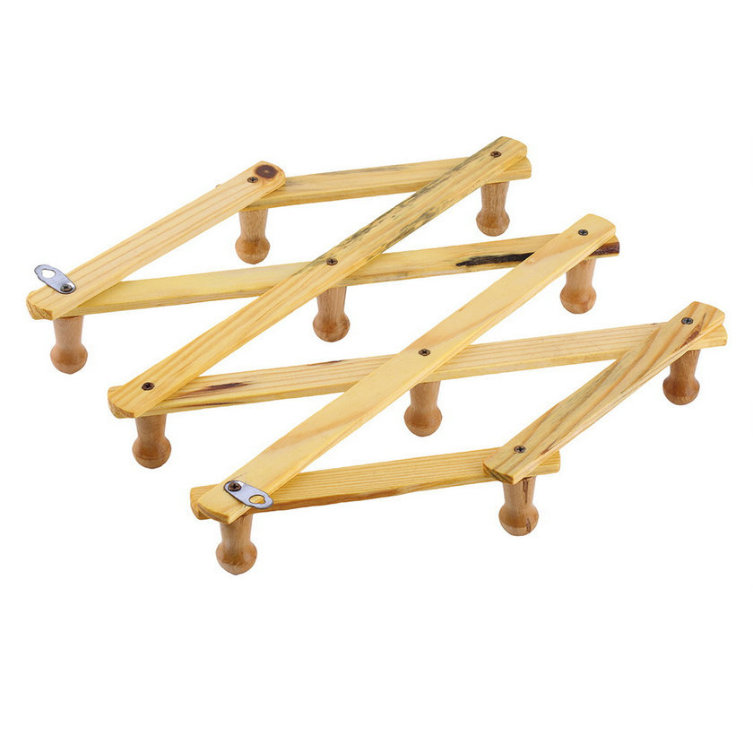 Solid Wooden Hanger Expandable Wooden Coat Rack Hat Hook Expanding Fold  NEW. Wholesale(China