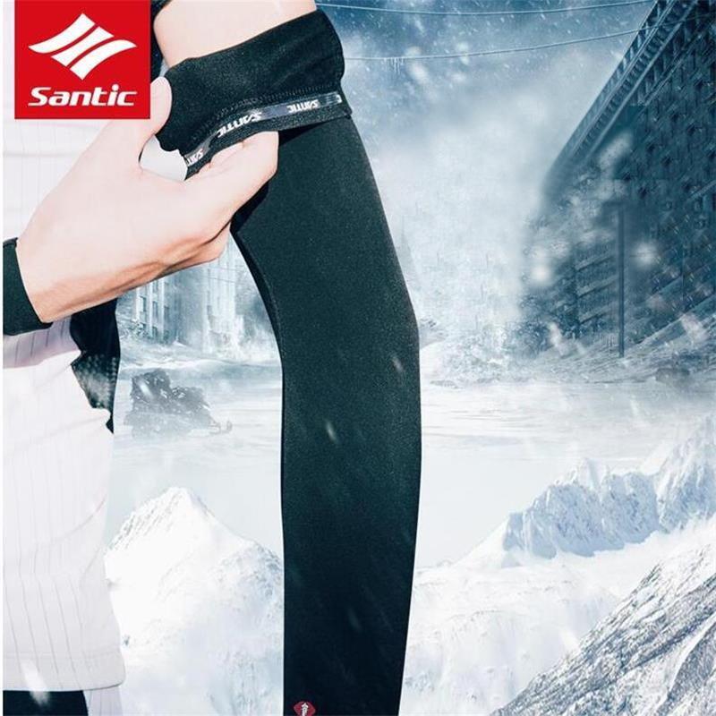 Santic Cycling Arm Sleeve Thermal Fleece Sun UV Protection  Arm Warmer 1 Pair