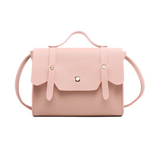 New Casual Style Solid Color PU Leather Shoulder Bag Small Female Messenger Phone Bag Small Korean Style purse for young girls цены