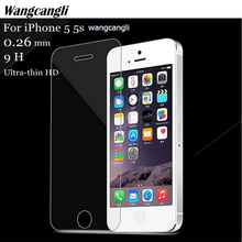 2.5D Protective Glass on the For iphone if Tempered Glass Screen Protector for iphone 5 SE 5S 5s 5c 4 4s Glass Tempered 9 H film electroplating tempered glass mirror screen guard film for iphone 5 5s 5c